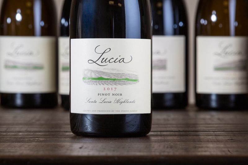 Bottle of Santa Lucia Highlands Pinot Noir